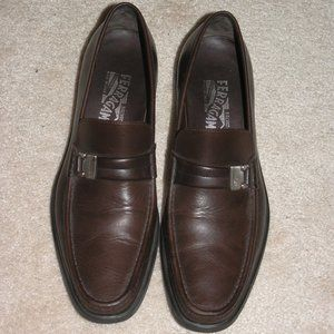 Salvatore Ferragamo Brown Leather Loafers 8.5 D